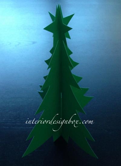 手作り立体クリスマスツリー作り方