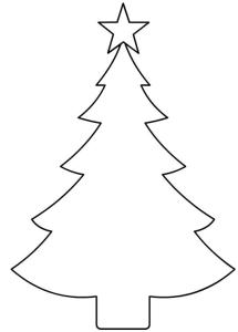 立体クリスマスツリーテンプレート型紙