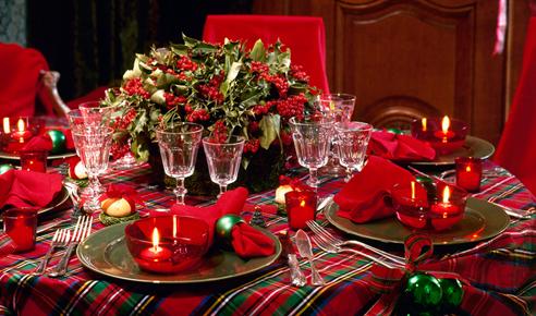 テーブル飾り付けクリスマス