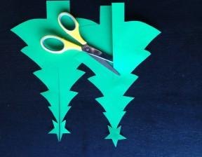 立体クリスマスツリーテンプレート印刷