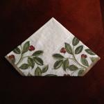 紙ナプキン折り方