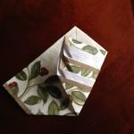 紙ナプキン折り方クリスマスツリー