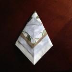 紙ナプキン折り方チュートリアル