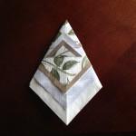 クリスマス紙ナプキン折り方ポケット