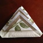 立たせられる紙ナプキン折り方