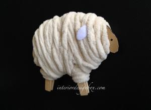 手作り羊干支飾り