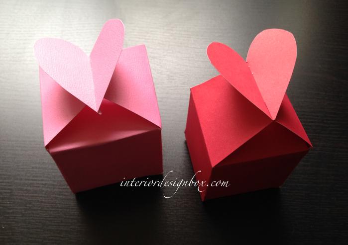 手作りハートのギフトボックス折り方と箱の作り方