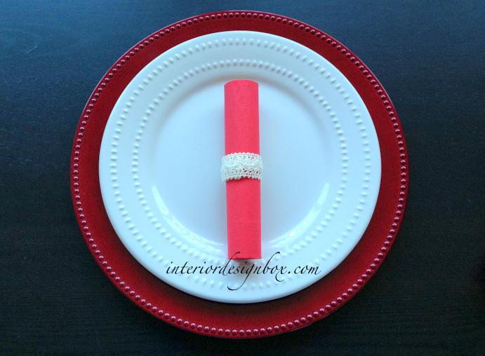 ペーパーナプキン折り方バレンタイン