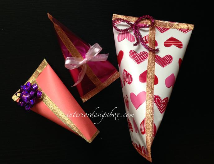 手作りギフト袋バレンタイン作り方