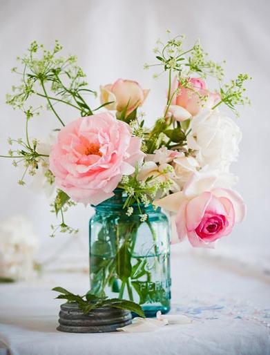 春インテリアお花飾り方