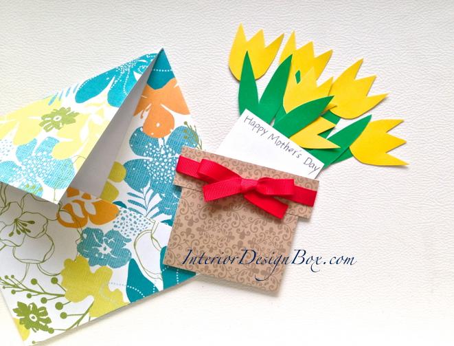 母の日お花メッセージカード手作り