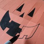 子供紙かぼちゃランタン作り方