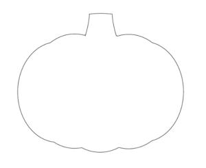 かぼちゃ型紙ハロウィンテンプレート