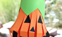 子供ハロウィンクラフト キッズ手作りかぼちゃおばけ工作
