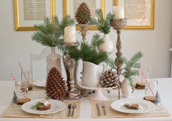 和食クリスマステーブルセットアップ