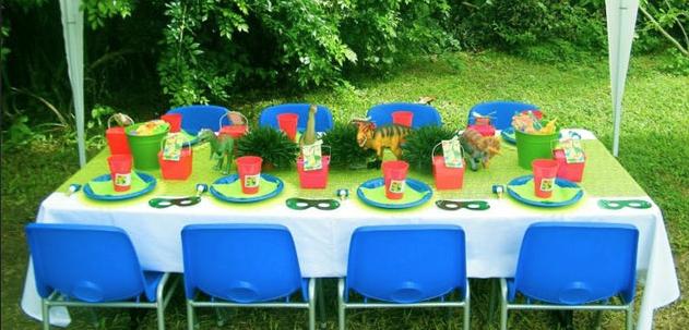 子供バースデーパーティーテーブルコーディネート