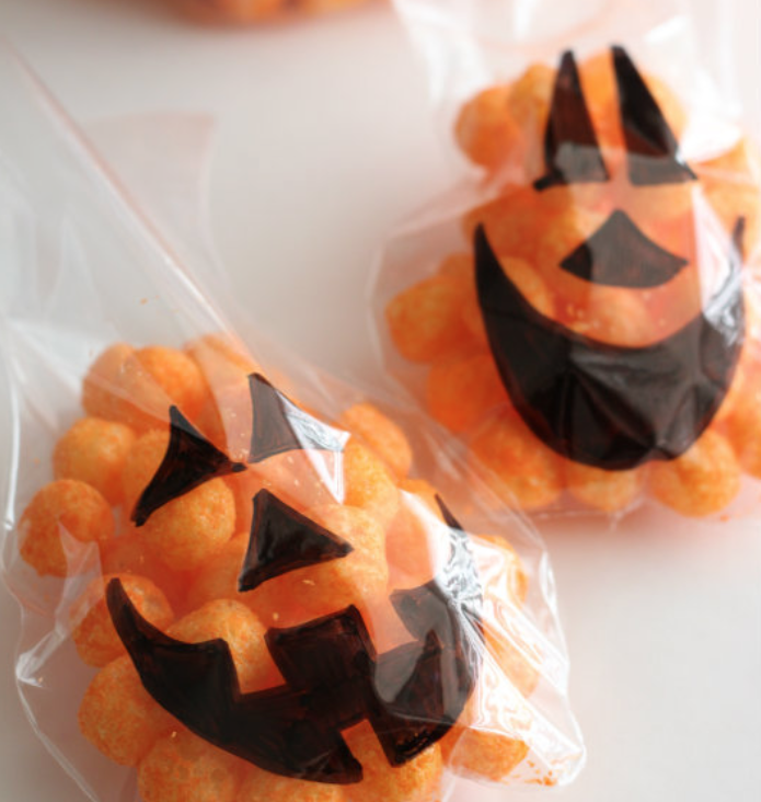 ハロウィンお菓子ラッピングアイデア