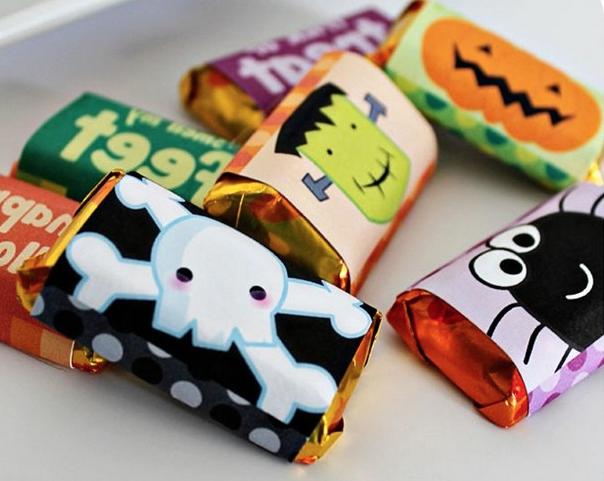 ハロウィンばらまきお菓子ラッピングアイデア