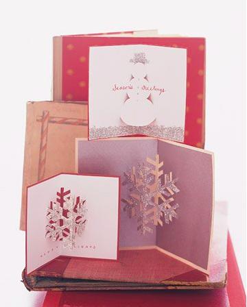 手作りポップアップクリスマスカード
