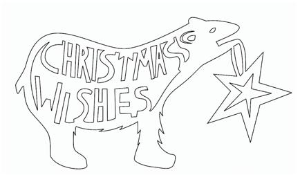 切り絵クリスマスカード手作り