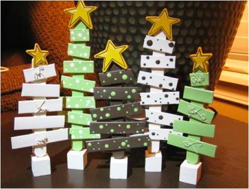 キッズクラフト子供工作クリスマスツリー