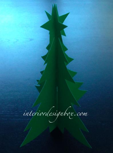紙で手作りクリスマスツリー
