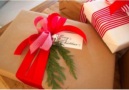 ギフトラッピングやり方クリスマス