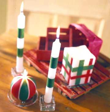 手作りクリスマスキャンドル