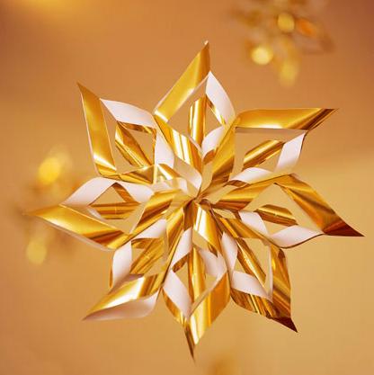 星の手作りクリスマスオーナメント