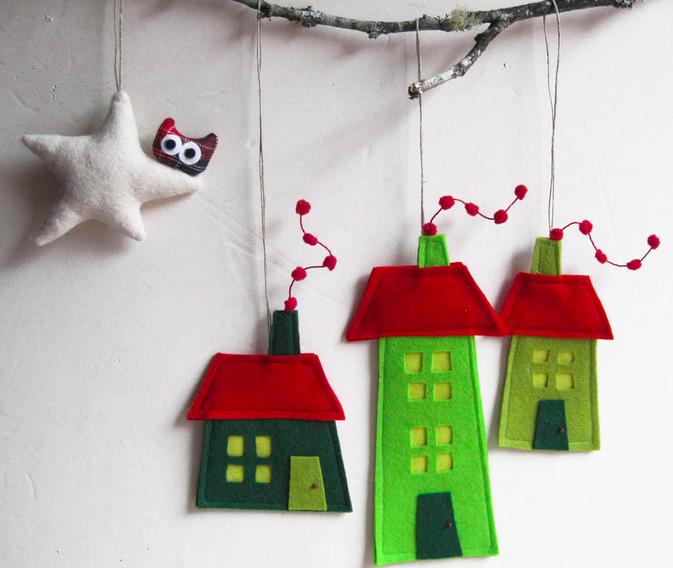 手作り北欧クリスマス飾り作り方画像