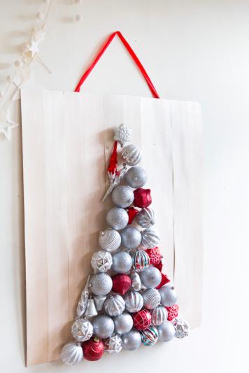 クリスマス ツリー 壁面