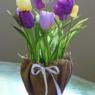 鉢植えのおしゃれなラッピング方法 植木鉢と花のギフトラップ