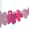手作りかわいい桜ガーランド作り方 紙で簡単な春飾り